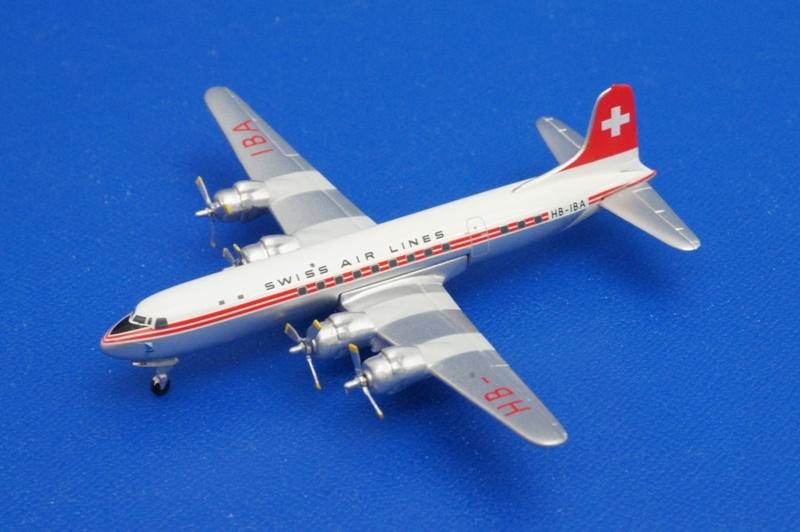 アエロクラシックス/AE076A 1/400 ダグラス DC-6 スイスエア HB-IBA