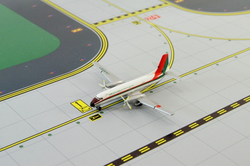 YS-11 JAS/RED&GREEN