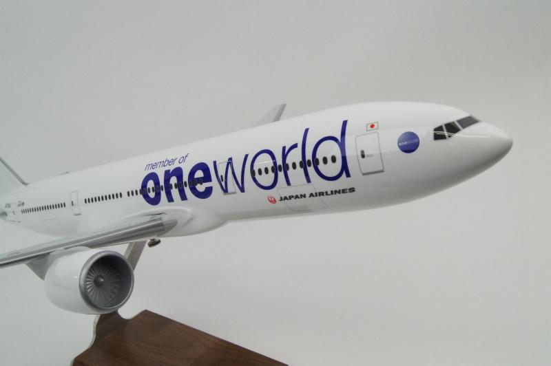 パックミン 1/100 B777-200 JAL/ONE WORLD JA708J