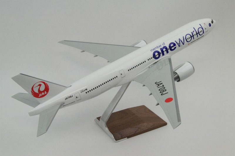 パックミン 1/100 B777-200 JAL/ONE WORLD JA708J