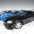 7014 ky7014k Toyota Supra black with hood scoop, LHD
