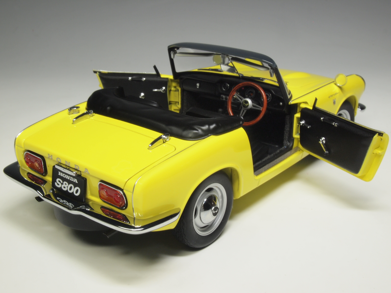 73277 aa73277 honda s800 roadster yellow scale model collection. Black Bedroom Furniture Sets. Home Design Ideas