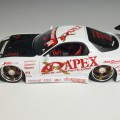 63524 d63524w Mazda RX-7 #04 white , APEX with Racing Hart CX and Da Luck Double Six wheels